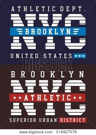 New York City athletics sports for poster and t-shirt