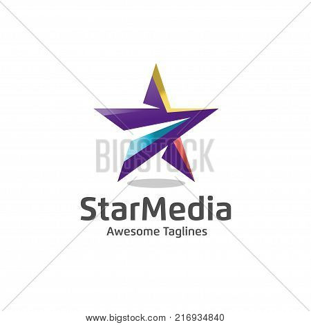 Star color vector logo,Star color icon, star rating, rank. Star astrology symbol. Star icon logotype. Sport star logo. Astronomy star logo