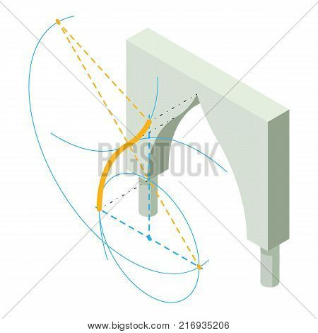 Arch history icon. Isometric illustration of arch history vector icon for web