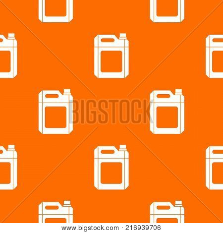 Plastic jerry can pattern repeat seamless in orange color for any design. Vector geometric illustration