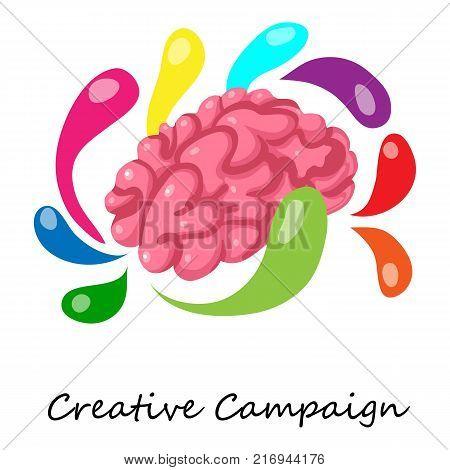 Creative campaign icon. Isometric illustration of creative campaign vector icon for web