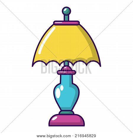 Shade lamp icon. Cartoon illustration of shade lamp vector icon for web