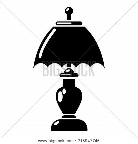 Shade lamp icon. Simple illustration of shade lamp vector icon for web