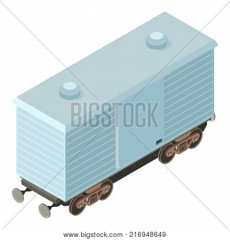 Wagon logistic icon. Isometric illustration of wagon logistic vector icon for web