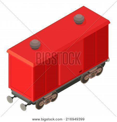 Wagon modern icon. Isometric illustration of wagon modern vector icon for web