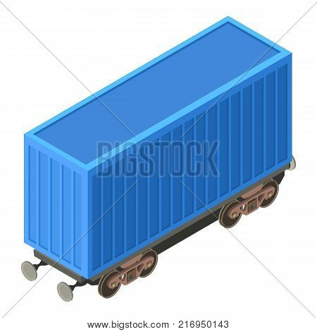 Wagon container icon. Isometric illustration of wagon container vector icon for web