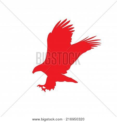 Red Silhouette Eagle Vector Photo Free Trial Bigstock