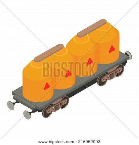 Wagon gas icon. Isometric illustration of wagon gas vector icon for web