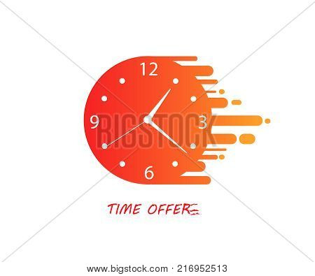 Limited time offer. Last chance. Stopwatch vector