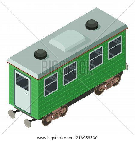 Wagon passenger icon. Isometric illustration of wagon passenger vector icon for web