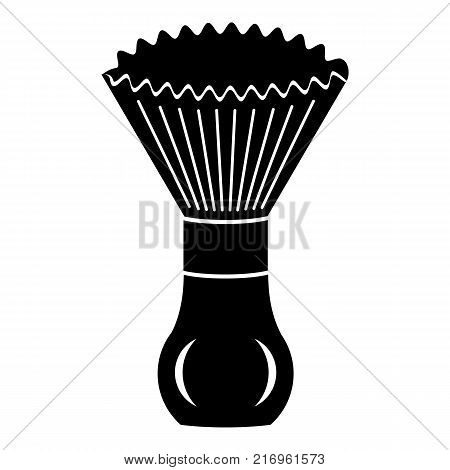 Shave brush icon. Simple illustration of shave brush vector icon for web