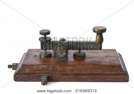 old telegraph for morse key used in Italy