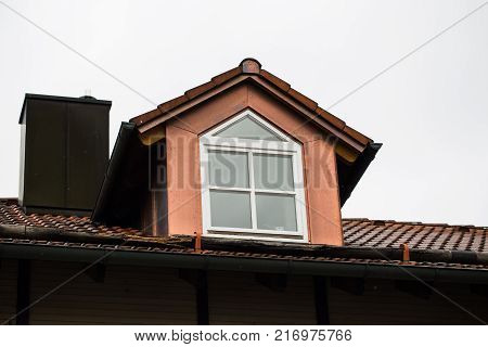 Gable with copper one-family house, house, family-house