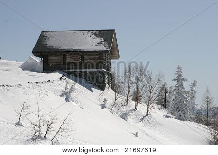 winter snow hut
