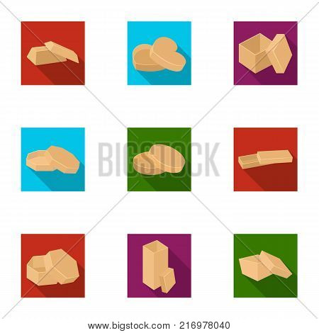 Box, package, packaging, and other  icon in flat style.Shell, framework, boxing icons in set collection