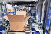 Automatic cardboard package box erector and packing machine poster