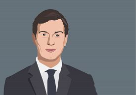 Dec, 2017: Jared Kushner Vector portrait - an American investor and newspaper publisher who is currently senior advisor to Donald Trump, the President of the United States