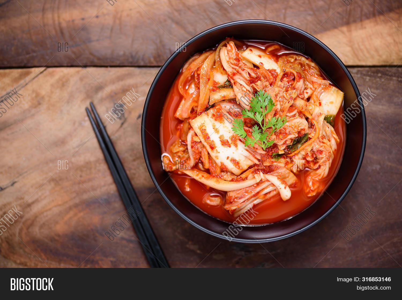 Kimchi Cabbage Bowl Image Photo Free Trial Bigstock