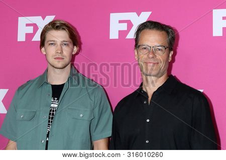 LOS ANGELES - AUG 6:  Joe Alwyn, Guy Pearce at the FX Networks Starwalk at Summer 2019 TCA at the Beverly Hilton Hotel on August 6, 2019 in Beverly Hills, CA