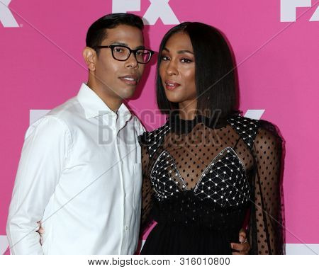LOS ANGELES - AUG 6:  Steven Canals, Mj Rodriguez at the FX Networks Starwalk at Summer 2019 TCA at the Beverly Hilton Hotel on August 6, 2019 in Beverly Hills, CA