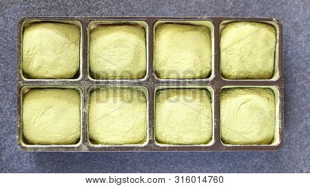 Eight Japanese Matcha Chocolates Packaged And Made In Kyoto, Japan.