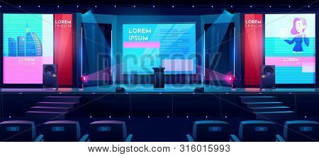 Hall For Business Conferences, Investment Projects Presentations, Shareholders Event Or Meeting With