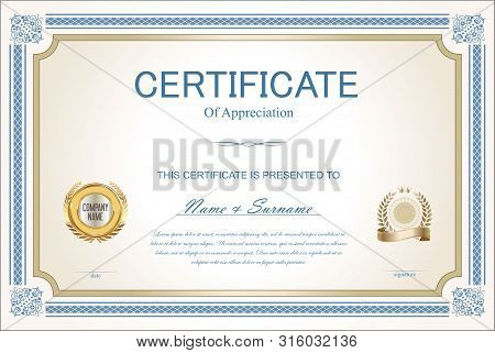 Certificate Or Diploma Retro Vintage Template 1.eps