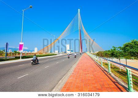 Cau Nguyen Van Troi Tran Thi Ly Bridge Is A Bridge Spanning The Han River In Danang City In Vietnam