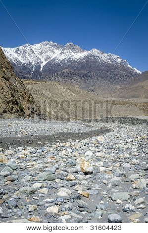 Empty River In Himalaya