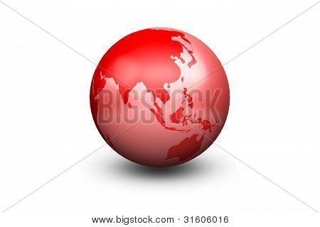 Shiny Red Globe