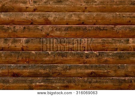 Abstract Pattern With Dirty Dark Decrepit Shabby Wood. Vintage Table, Desk Surface. Blank Space. Nat