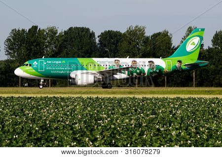 Amsterdam / Netherlands - July 3, 2017: Aer Lingus Special Livery Airbus A320 Ei-dei Passenger Plane