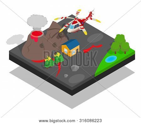 Catastrophe Concept Banner. Isometric Banner Of Catastrophe Vector Concept For Web, Giftcard And Pos
