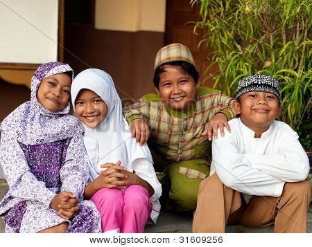 Happy Muslim Children