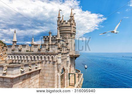 The Swallows Nest Castle In Gaspra, Crimea, Ukraine