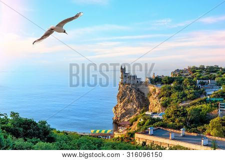 The Swallow Nest In Crimea, Beautiful View On The Cape