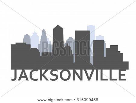 Silhouette Of Jacksonville, Florida - Skyline Of Downtown Of Jacksonville City