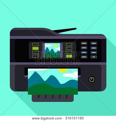 Photography Printer Icon. Flat Illustration Of Photography Printer Vector Icon For Web Design