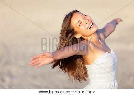 Happy Vacation Woman
