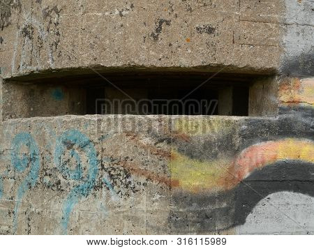 Loophole Embrasure Old Military Bunker Close To