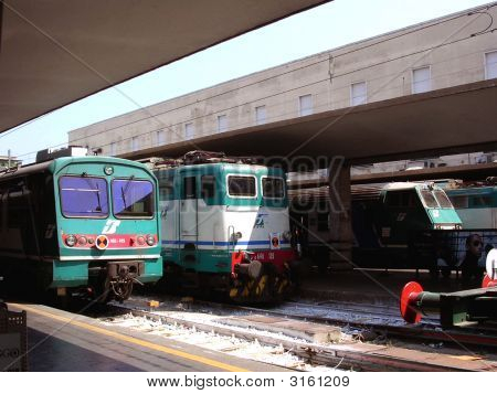 Locomotives At Firenze Santa Maria Novella Station