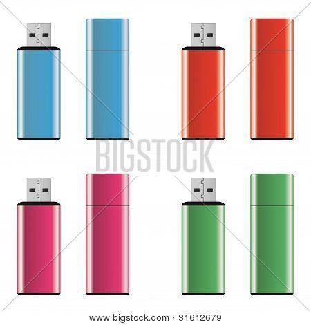 Colored Usb Pen Drives