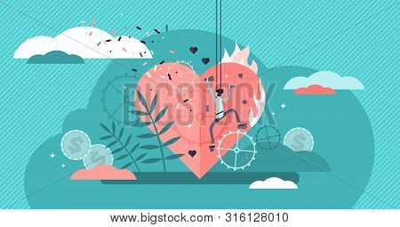 Passion Vector Illustration. Flat Tiny Enjoyment Sport Hobby Persons Concept. Abstract Enthusiasm, S