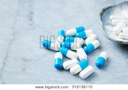Tri-creatine Malate And Arginine Capsules And Bcaa Amino Acids.  Bodybuilding Food Supplements On Br