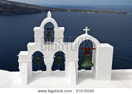 Church at Oia village of Santorini