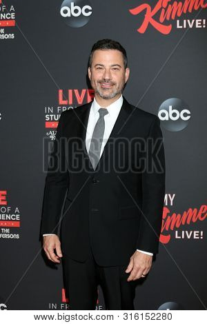 LOS ANGELES - AUG 7:  Jimmy Kimmel at the An Evening With Jimmy Kimmel at the Roosevelt Hotel on August 7, 2019 in Los Angeles, CA