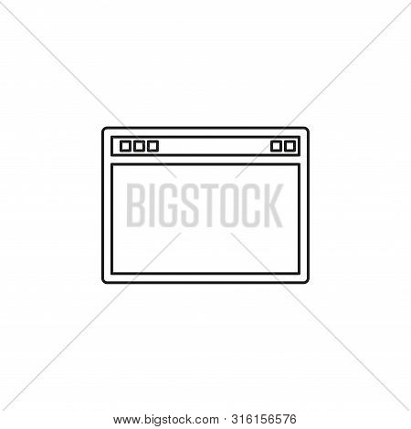 Browser Window Vector Illustration. Browser Or Web Flat Style. Window Concept Internet Browser. Mock