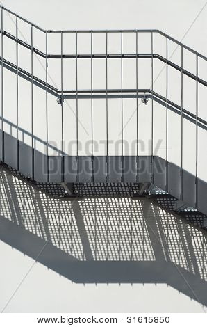 Metal Stairs as an Contemporary Architectural Element poster