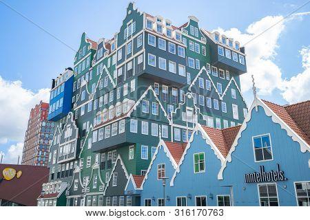 Zaandam, Netherlands - May 13, 2019: Zaandam Modern Buidings In North Holland, Netherlands