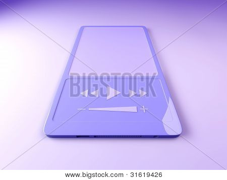 3D rendered illustration of an generic MP3 Hardware Player. poster